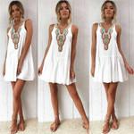Short Mini Holiday Sweet Sundress A-line Boho Bohemian Dress