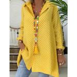 New Dot Long Sleeve Loose Fashion Casual Boho Bohemian Blouse & Shirts