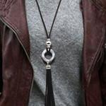 Ethnic Tassel Irregular Iron Pendant Necklace Boho Bohemian Sweaters