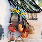 Agate Stone Pendant Necklace Ethnic Boho Bohemian Sweaters