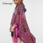 Irregular Printed CardiganBlusas Vintage Boho Bohemian Kimonos