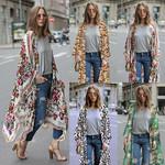 Cover Ups  Chiffon KCardigan Floral Leopard Boho Bohemian Kimonos