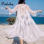Fitshinlingbeach cover-up lace see through sexy Boho Bohemian Kimonos