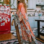 Printed Self Belted Loose Beach Tunic Boho Bohemian Kimonos