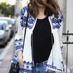 Jacket cotton floral embroidery Outerwear Boho Bohemian Jackets & Coats