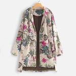 Feitong Jackets Vintage Outwear Floral Boho Bohemian Jackets & Coats