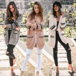 Fashion Sleeve Loose Knitted Coat Streetwear Boho Bohemian Jackets & Coats