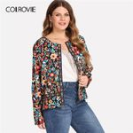 Contrast Tape Open Front Long Sleeve Boho Bohemian Jackets & Coats