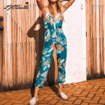 Fashion Backless Sexy Jumpsuits Strappy Boho Bohemian Rompers