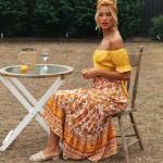 Hippie Floral Printed Waist Elastic Vintage Boho Bohemian Skirts