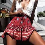 Style Casual mini fashion flower Boho Bohemian Skirts