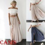 Casual Chiffon Solid Waist Bandage Boho Bohemian Skirts