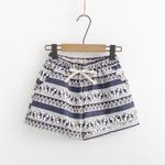 Casual Elastic Waist Loose Boho Bohemian Shorts