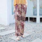 New Printing Beach Long Pants Loose Elastic Boho Bohemian Pants