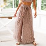 Fashion High Waist Loose Casual Style Lace Up Boho Bohemian Pants