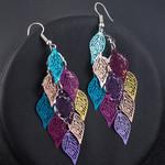 Seven-color small nine leaf Earring Boho Bohemian Accessories