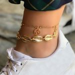 Shell Anklet Foot Chain Ankle Sandals Barefoot Boho Bohemian Accessories