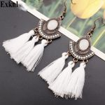 Colors Tassel Earrings  Earrings Statement Boho Bohemian Accessories