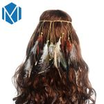 Colorful Feather Hair Bands Hippie Festival Boho Bohemian Accessories
