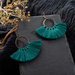 Large Circle Tassel Earrings Ethnic Charm Boho Bohemian Accessories