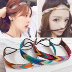 Ethnic Embroidery Headbands For Girls Boho Bohemian Accessories