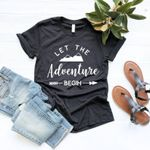 The Adventure Begin Mountains Hiking Outdoor Women T-shirts