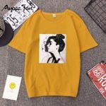Fashion Print Short Sleeve O-Neck Loose Fit Soft Women T-shirts