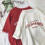 Funny Letter Print Hip Hop Loose Student Streetwear Women T-shirts