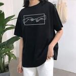 Michelangelo casual fashion tops short sleeve Women T-shirts