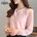 Fashion long sleeve chiffon shirt blusas Women Blouses