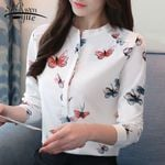 Shirts print blouse fashion office Women Blouses