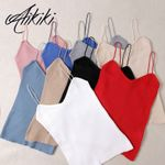 Fashion Sleeveless Cotton Bustier Unpadded Tank Top & Camis