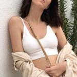Solid Sexy Fashion Basic Crop Streetwear Sleeveless Tank Top & Camis