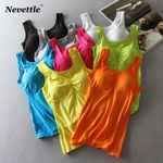 Cotton Chest Padded Sexy Sleeveless Tank Top & Camis