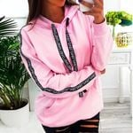Sweatshirt Long Sleeve Solid Tops Blouse Letter Hoodies