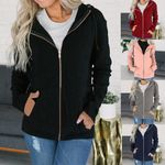 Casual style Sweatshirt Outerwear Jacket Solid velvet Hoodies