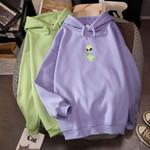 Print Oversized Sweatshirt Loose Long Sleeves Hoodies