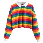 Stripe Button Sweatshirt Long Sleeve fleece Pullover Hoodies