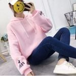 Long Sleeve Sweatshirt Letter Print Tracksuit Coat Hoodies