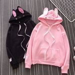 Fashion Cute Bunny Long Sleeve Lovely Rabbit Sweatshirts Hoodies