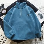 Sweatshirt Plus Size Lambswool Turtleneck Hoodies