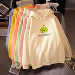 Sweatshirt Cute Cartoon Avocado Print Fashion Streetwear Hoodies