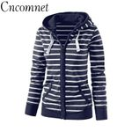 Long Sleeve Striped Coats Fashion Casual Sweatshirt