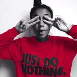 Just Do Nothing Letter Fashion Casual Long Sleeve Sweatshirt