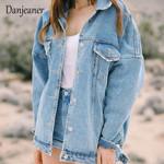 Wind Loose Female Turn Down Collar Coat Denim Jackets