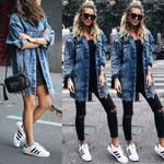 New Vintage Hole Style Jean Fashion Coats Style Denim Jackets