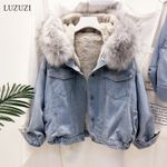 Bomber Hooded Girls Coat Jeans Basic Windbreaker Denim Jackets