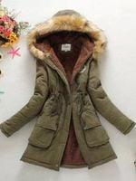 Parkas Coat Thickening Cotton Outwear Overcoat Jackets