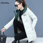 Thicken Parkas Hooded Coat Wadded Long Parka Jackets