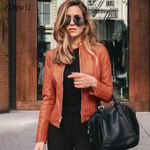 Leather Short Outwear Coat Fashion Grunge Daily Casual Outwear Jackets